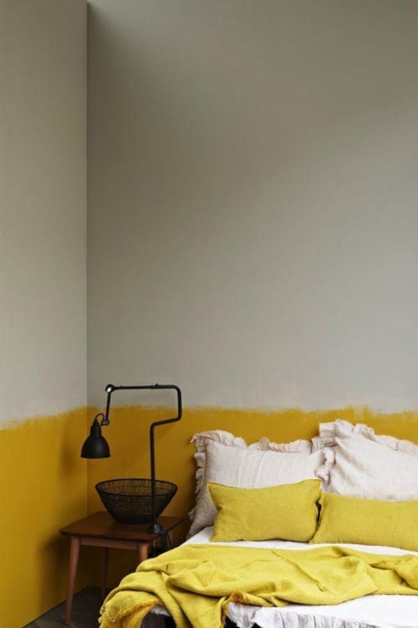 Chambre mur jaune
