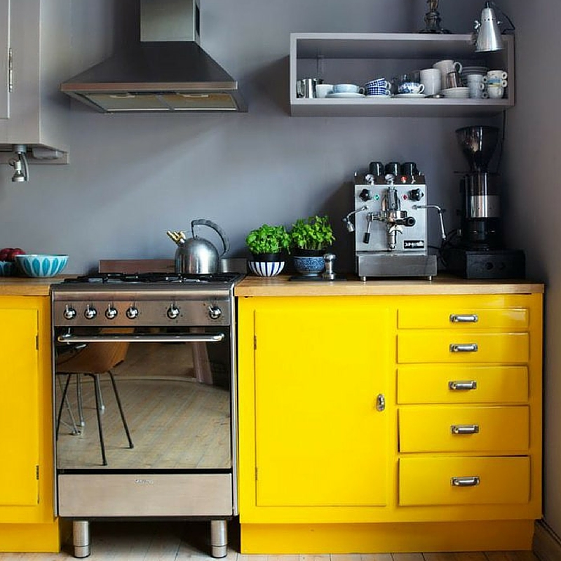 ma cuisine jaune. Black Bedroom Furniture Sets. Home Design Ideas