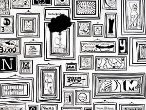 tendance mur galerie