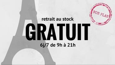 Retrait au stock gratuit du lundi au samedi de 9h à 21h. Vos articles disponibles 30 min après votre commande sur Paris 2ème.