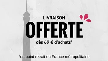 Livraison offerte en point relais dès 69€ d'achat !