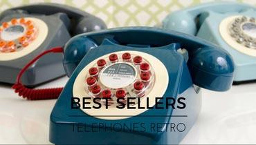 Découvrez notre gamme de téléphones vintages, répliques des modèles phares des années 50s, 60s et 70s.