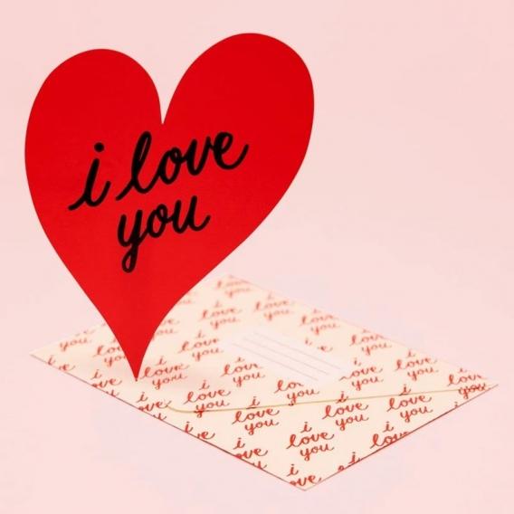 Carte de voeux Coeur @bonjourbibiche