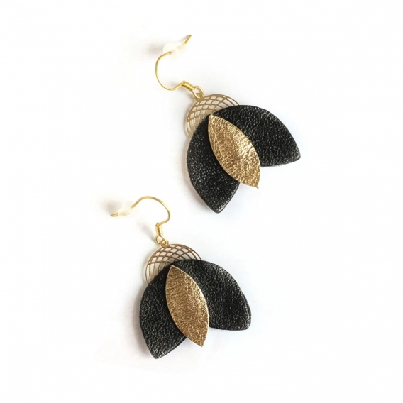 Boucles d'oreilles en cuir @bonjourbibiche