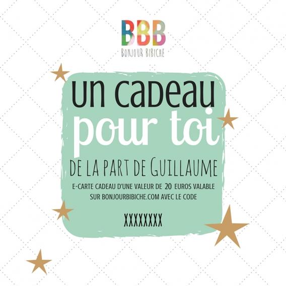 Carte cadeau électronique 20 € Bonjour Bibiche