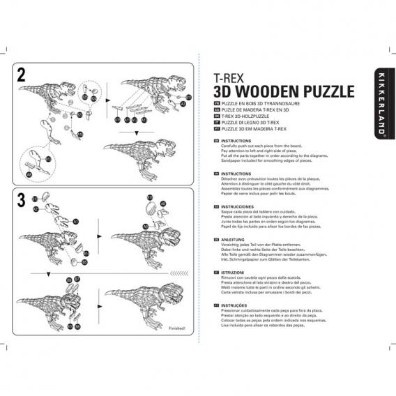 T Rex Puzzle 3D @bonjourbibiche