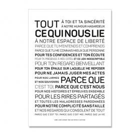 Carte Texte Amitié @bonjourbibiche