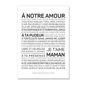 Carte Je t'aime maman @bonjourbibiche