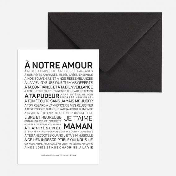 Carte Maman je t'aime @bonjourbibiche