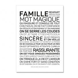 Carte postale Famille @bonjourbibiche