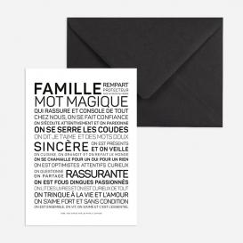 Carte de voeux Famille @bonjourbibiche