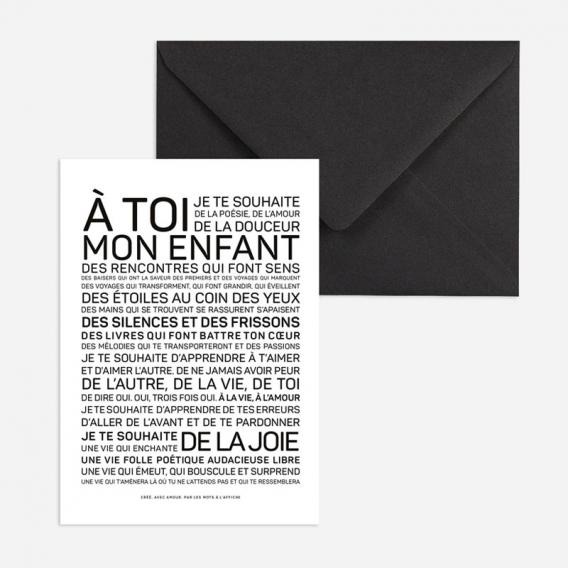 Carte de voeux Naissance @bonjourbibiche
