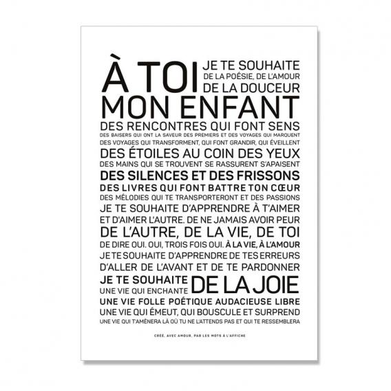 Carte postale Naissance @bonjourbibiche
