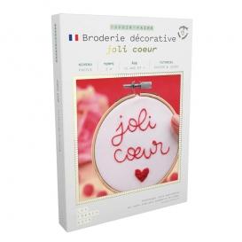 Kit Broderie Coeur @bonjourbibiche