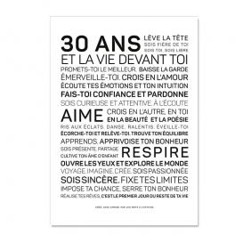 Carte anniversaire 30 ans Femme @bonjourbibiche