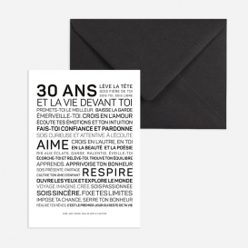 Carte anniversaire Femme 30 ans @bonjourbibiche