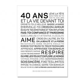 Carte anniversaire 40 ans Femme @bonjourbibiche