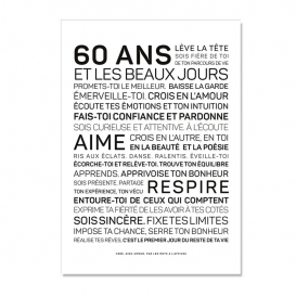 Carte anniversaire 60 ans Femme @bonjourbibiche