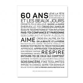 Carte anniversaire 60 ans Homme @bonjourbibiche