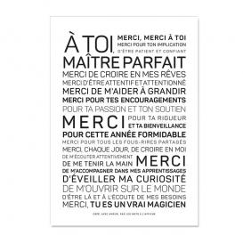 Carte Merci maître @bonjourbibiche