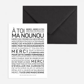 Carte postale Nounou @bonjourbibiche