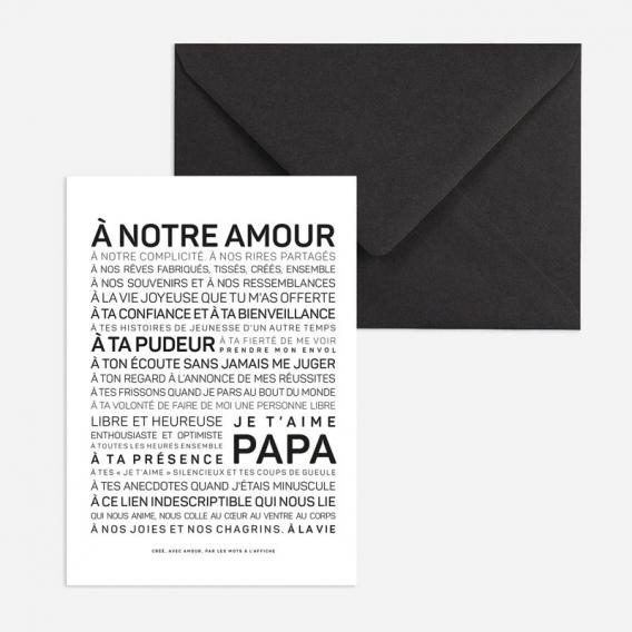 Carte Papa je t'aime @bonjourbibiche