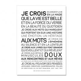 Carte La vie est belle @bonjourbibiche