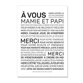 Carte de voeux Grands parents @bonjourbibiche