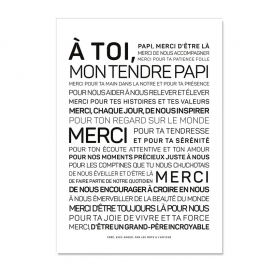 Carte Fête des grands pères @bonjourbibiche