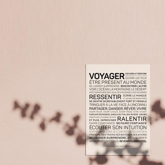 Carte Voyager @bonjourbibiche