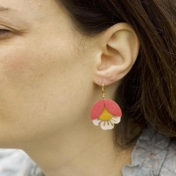 Boucle oreille cuir femme @bonjourbibiche
