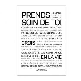 Carte Prends soin de toi @bonjourbibiche