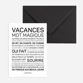 Carte Vacances @bonjourbibiche