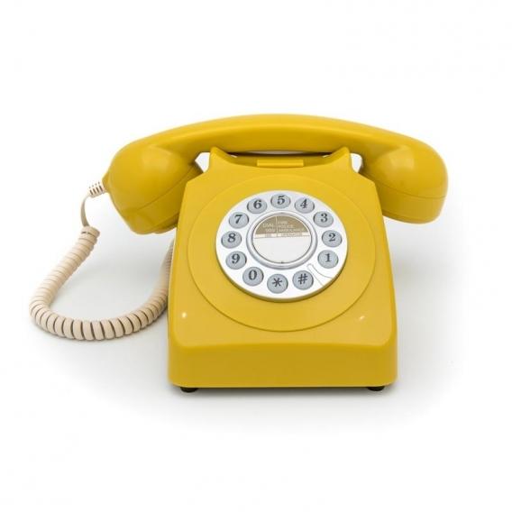 TELEPHONE RETRO JAUNE @bonjourbibiche