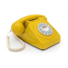 Téléphone vintage jaune @bonjourbibiche