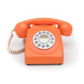 Téléphone vintage orange @bonjourbibiche