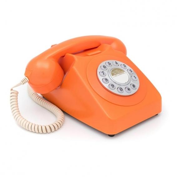 Téléphone rétro orange @bonjourbibiche