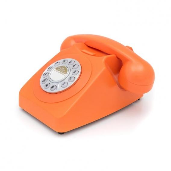 Téléphone orange vintage @bonjourbibiche