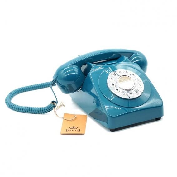 Téléphone fixe bleu @bonjourbibiche