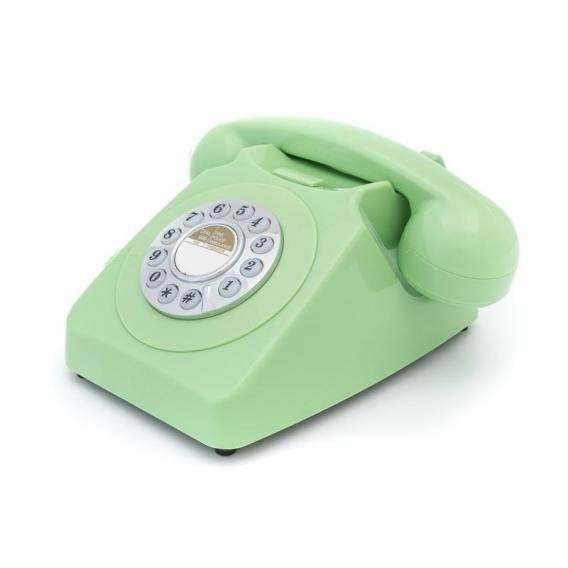Téléphone fixe vert @bonjourbibiche
