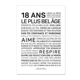 Carte anniversaire 18 @bonjourbibiche