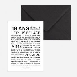 Carte anniversaire Majorité @bonjourbibiche