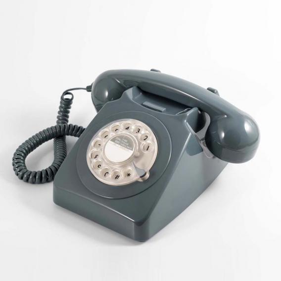Téléphone à cadran gris @bonjourbibiche
