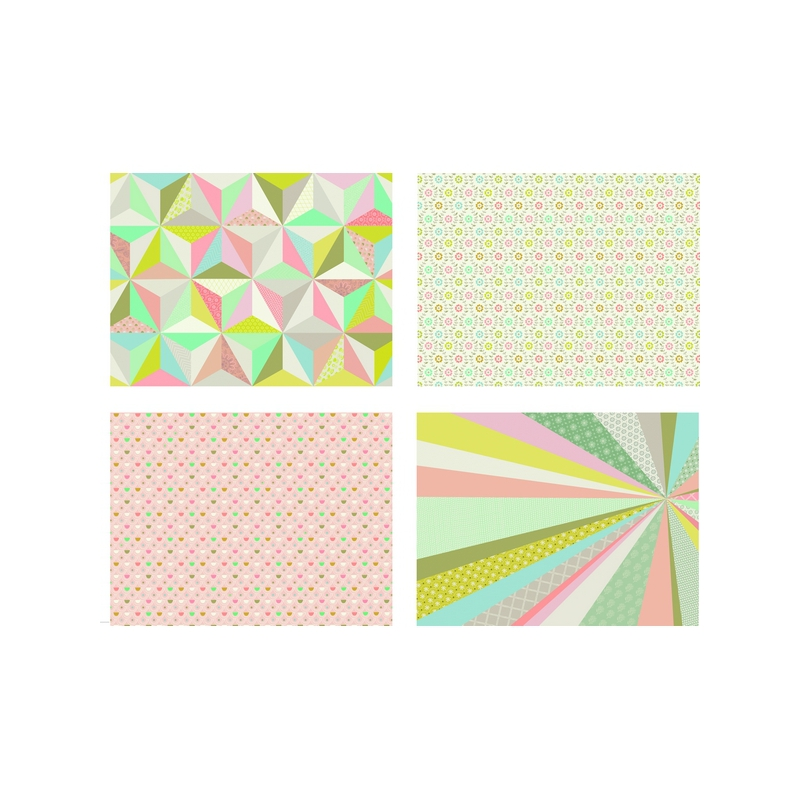 Sets de table papier pastel mini labo for Set de table paillete