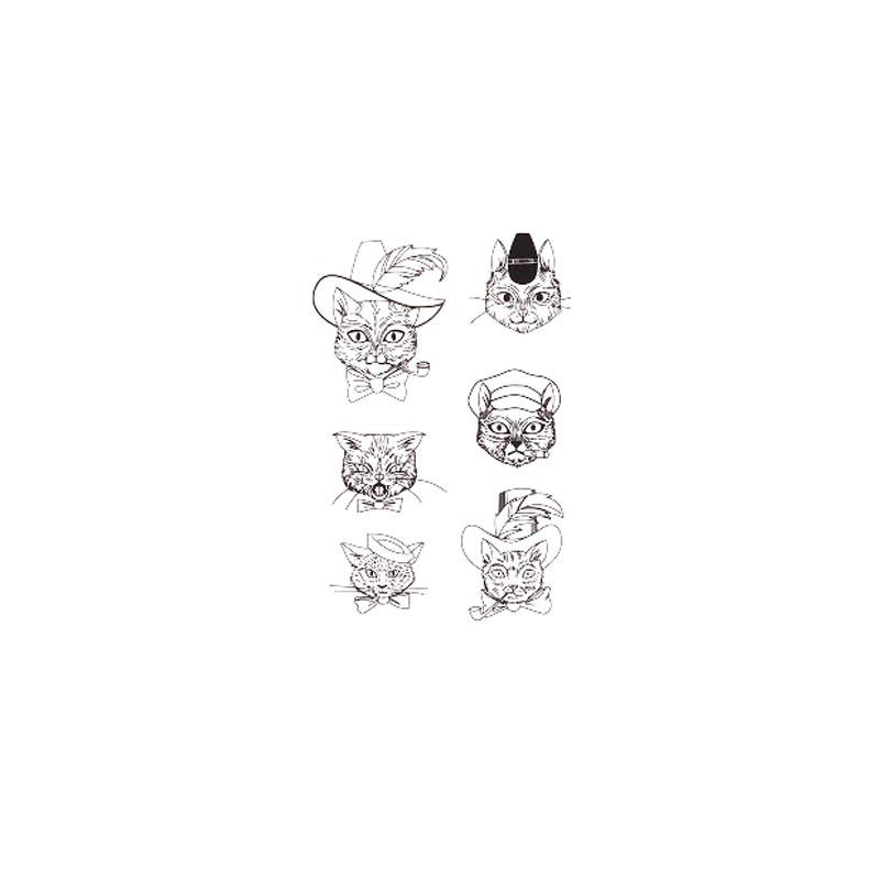 tatouage temporaire chat x6 | gama-go