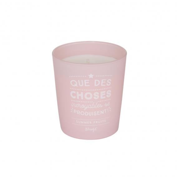 Bougie parfumée rose @bonjourbibiche