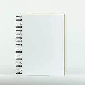 Cahier spirale page blanche @bonjourbibiche