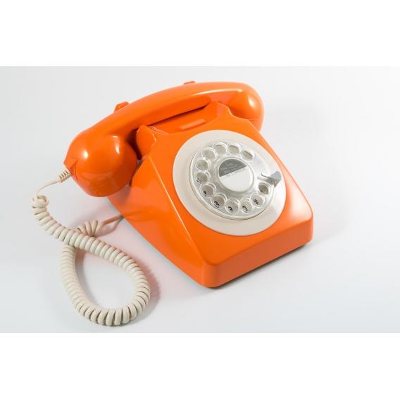 Telephone Retro orange @bonjourbibiche