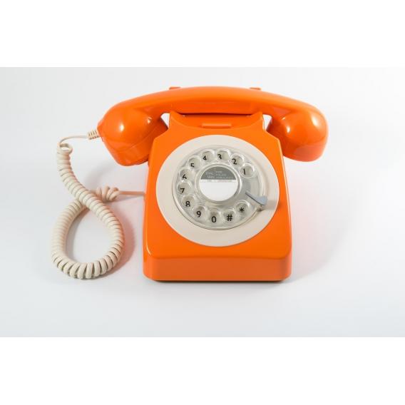 Telephone Vintage orange @bonjourbibiche