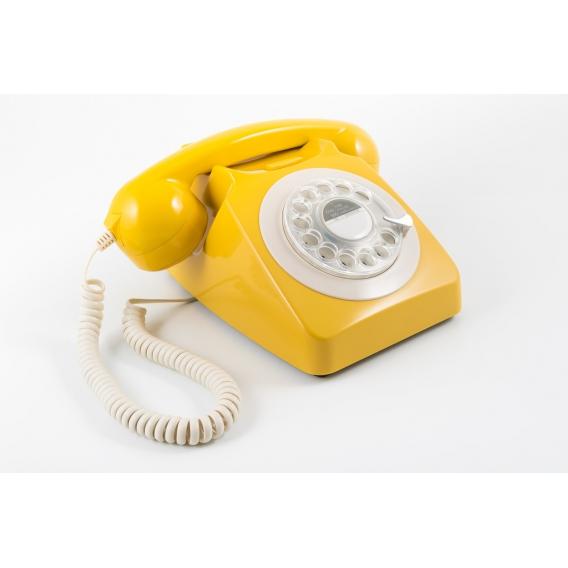 Telephone vintage jaune @bonjourbibiche